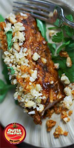 Grilled amberjack with toasted coconut pinenuts for Amberjack fish recipes
